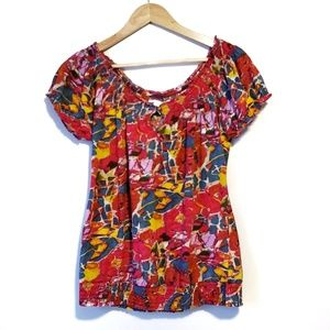 Lucky Brand Multicolored Top Size Large